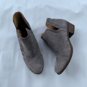 Lucky Brand Gray Suede LP-Bustina Ankle Boots